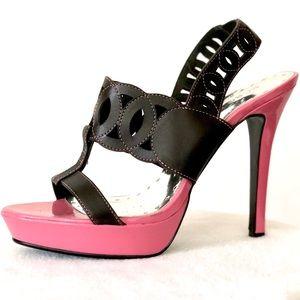 BCBGirls Alga Platform Slingback Pump Heel Sandals